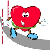 Heart runner. Royalty Free Stock Photography