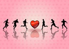 Heart runners Stock Photos