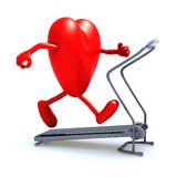 Heart on a running machine Stock Photography