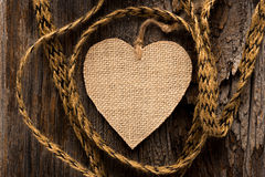 Heart on Rustic Wood Stock Photos