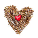 Heart of rusty nails Royalty Free Stock Image