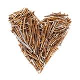 Heart of rusty nails Stock Photo