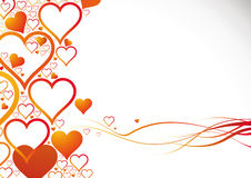Heart's background. A lot of colored gradient hearts on the gradient background Royalty Free Stock Photo
