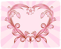 Heart's background. Heart's background or Valentine's card Stock Images