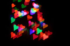 Heart's background. Colorful Heart's background on day valentines Stock Images