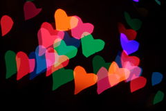 Heart's background. Colorful Heart's background on day valentines Stock Photos