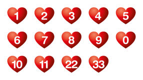 Heart`s desire numbers, numerology Royalty Free Stock Image