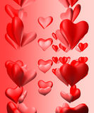 Heart's pair background. Valentines day background with heart's pair royalty free illustration
