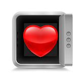 Heart in safe Royalty Free Stock Photo