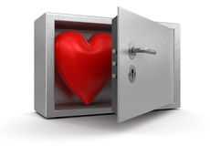 Heart in Safe (clipping path included) Royalty Free Stock Image
