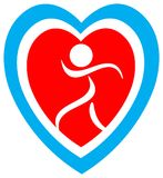 Heart safety logo Stock Photo