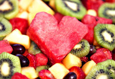 Heart Salad Stock Photography