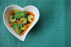 Heart salad Royalty Free Stock Image