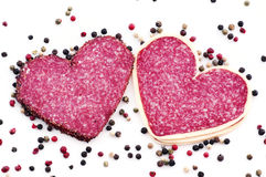 Heart Salami royalty free stock image
