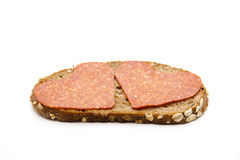 Heart of salamis Stock Image