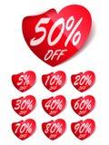 Heart Sale Labels Stock Photos