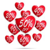 Heart Sale Labels Stock Images