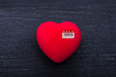 Heart for sale Stock Photography