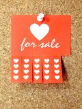 Heart for sale Royalty Free Stock Photography