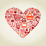 Heart sale2 Stock Image
