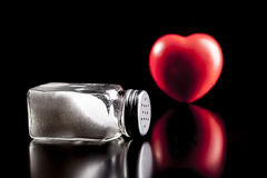 Heart and Salt Royalty Free Stock Photography