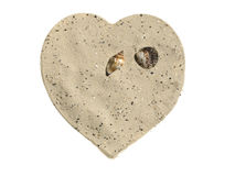 Heart of sand Royalty Free Stock Image