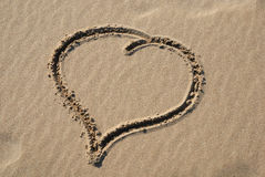 Heart on sand Royalty Free Stock Photo