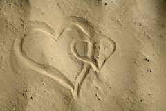 Heart in the sand Stock Image