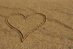 Heart in the sand. Royalty Free Stock Images