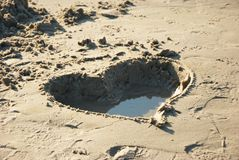 Heart in the sand Royalty Free Stock Photography