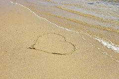 Heart in Sand Royalty Free Stock Image
