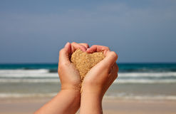 Heart of  sand Stock Photo