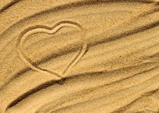 Heart on the sand. Image of the heart on the sand Stock Image