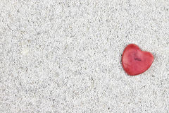 The heart in the sand Royalty Free Stock Image