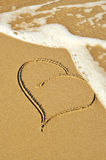 Heart in the sand Stock Photography