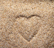 Heart on the sand Stock Image