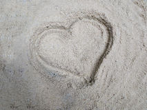 Heart on the sand. Heart on the beach.i love you stock photography