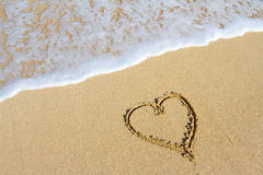Heart in the Sand Royalty Free Stock Photos