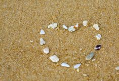 Heart In Sand Stock Photography