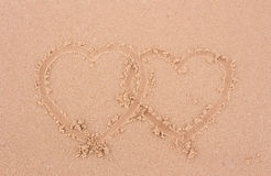 Heart in the sand. Heart in the sand background Royalty Free Stock Photo