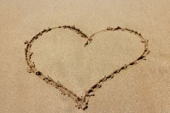 Valentines day on the beach royalty free stock photography