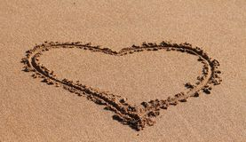 Heart in the sand Royalty Free Stock Image