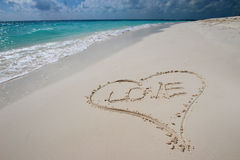 Heart in the sand Stock Images