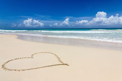 A heart in the sand Royalty Free Stock Images
