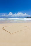 A heart in the sand Stock Image