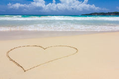 A heart in the sand Royalty Free Stock Image