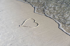 Heart in the sand Stock Photo