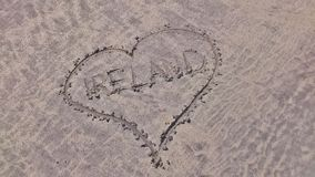 A heart in the sand for Ireland Stock Photo
