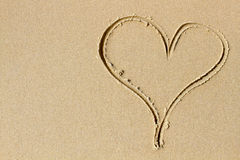A heart of sand and love Royalty Free Stock Photos