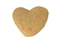 Heart of sand Stock Photography